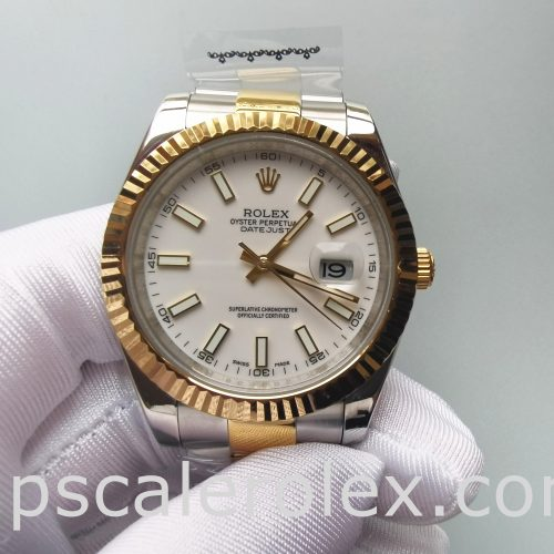 Rolex Datejust Oyster White Stk Asian 2813 White Men Automatic watch