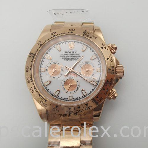 Rolex Daytona 116505 Men's 40 Mm Rose Gold Steel Automatic Watch