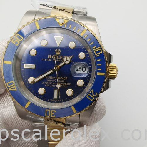 Rolex Submariner 116613LB Round 40mm Gold Stainless Steel Automatic Watch