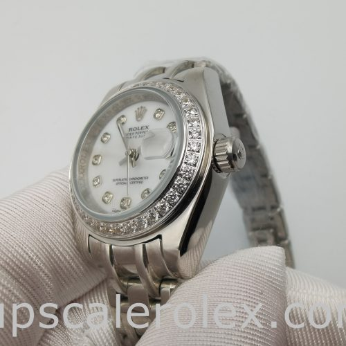 Rolex Datejust Pearlmaster 80299 White Gold 29mm Automatic Watch