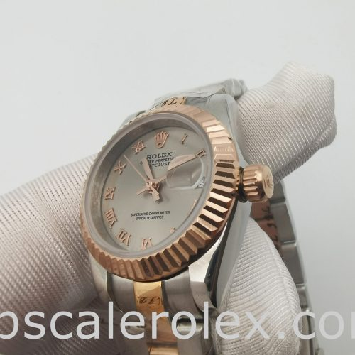 Rolex Datejust Lady 179171 Gray 26mm Steel Rose Gold Automatic Watch
