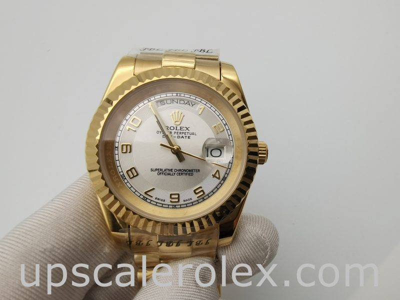 Rolex Day-Date 218238 Men's 41mm Yellow Gold Automatic Watch